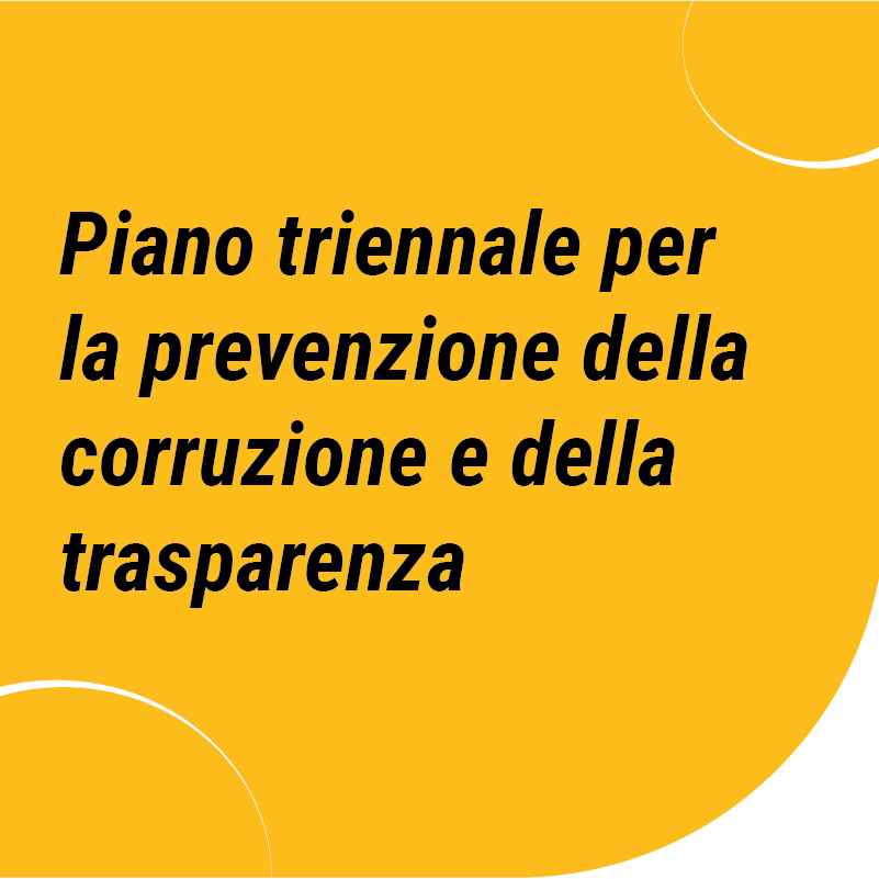 piano triennale per la prevenzione della corruzione