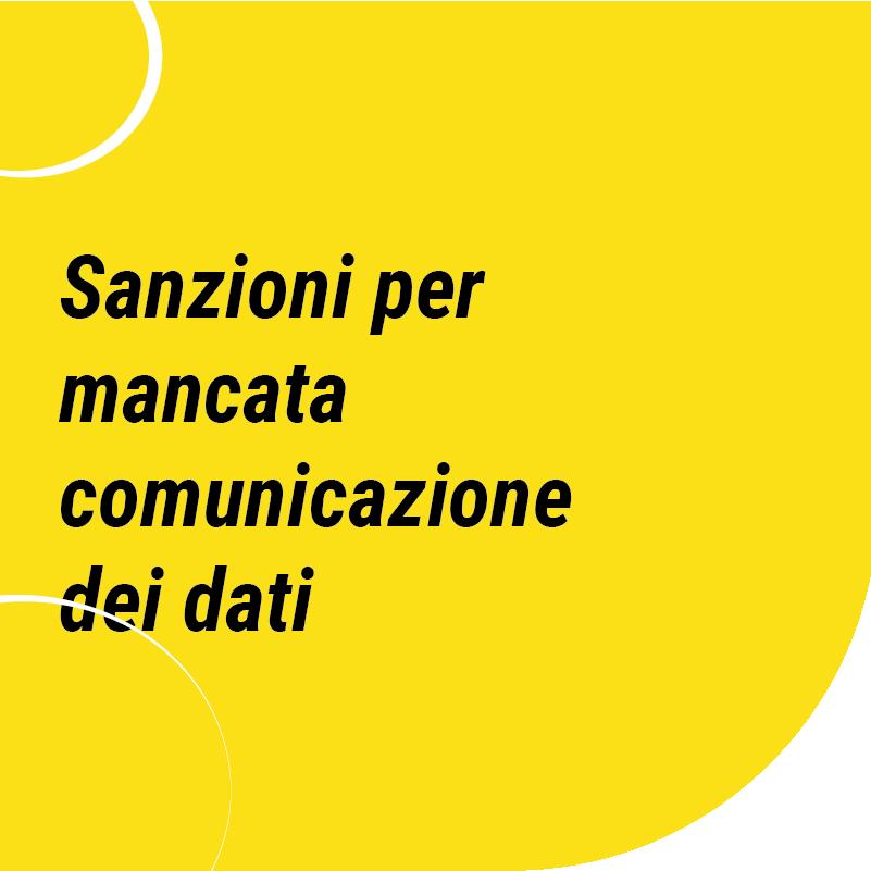 Sanzioni per mancata comunicazione dei dati