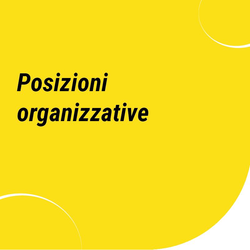 Posizioni organizzative