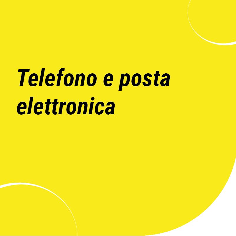 telefono e posta elettronica
