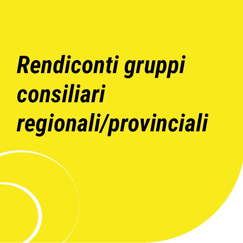 rendiconti gruppi consiliari regionali