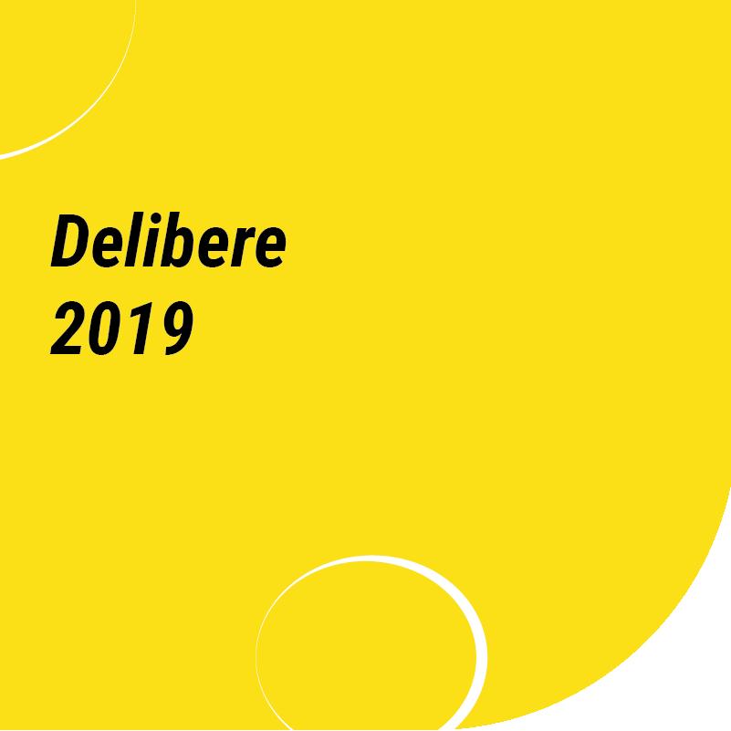 delibere 2019